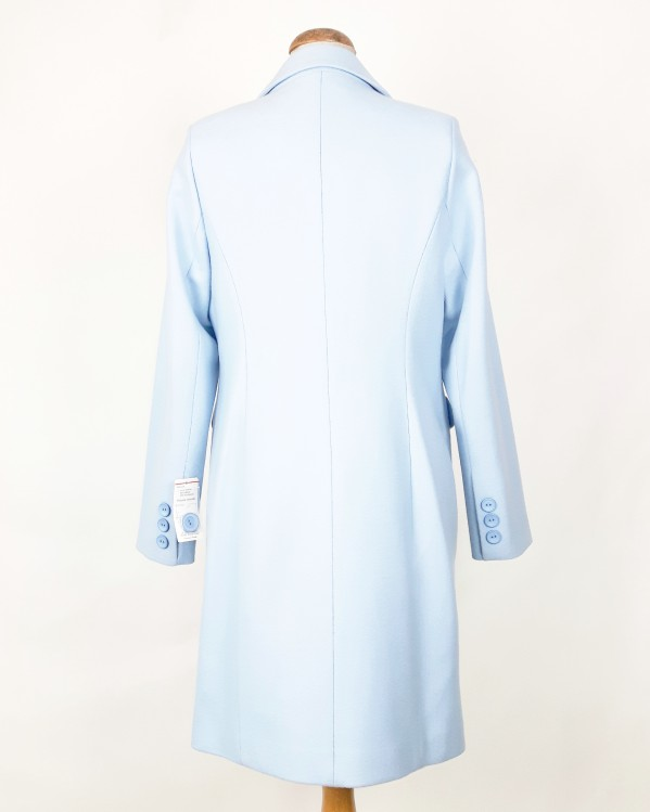 Płaszcz wiosenny dyplomatka damska Dorota błękit 2