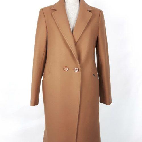 Wełniany wiosenny płaszcz damski Anita camel beżowy 1