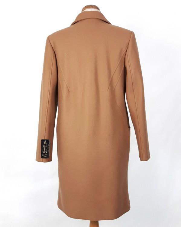 Wełniany wiosenny płaszcz damski Anita camel beżowy 2
