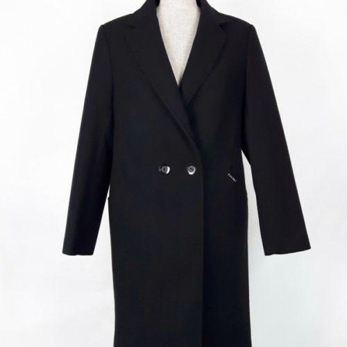 Wełniany wiosenny płaszcz damski Anita czarny 1