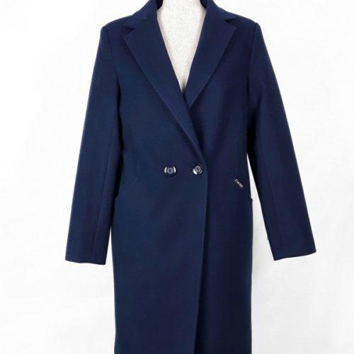 Wełniany wiosenny płaszcz damski Anita granat 1