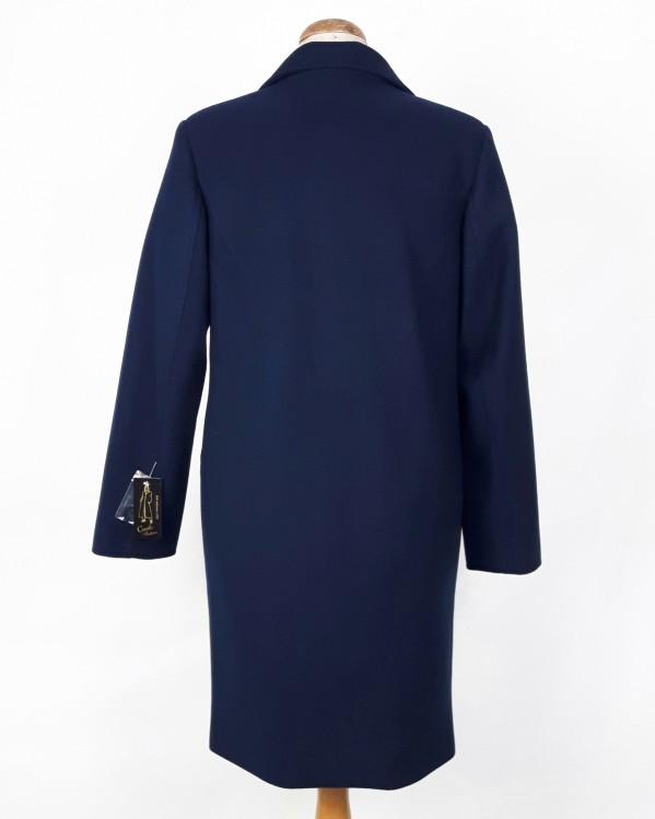 Wełniany wiosenny płaszcz damski Anita granat 2
