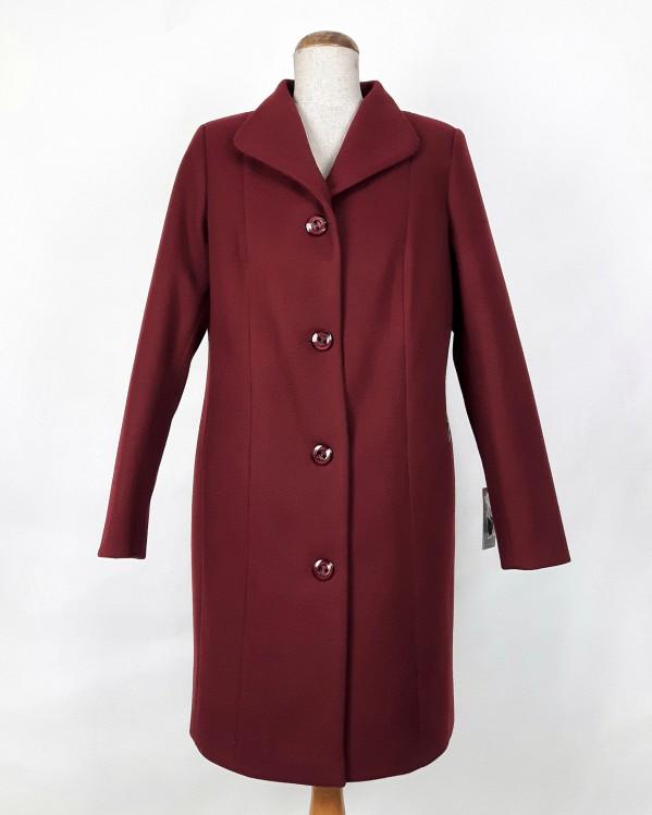 Zimowy płaszcz damski Eliza bordo 1