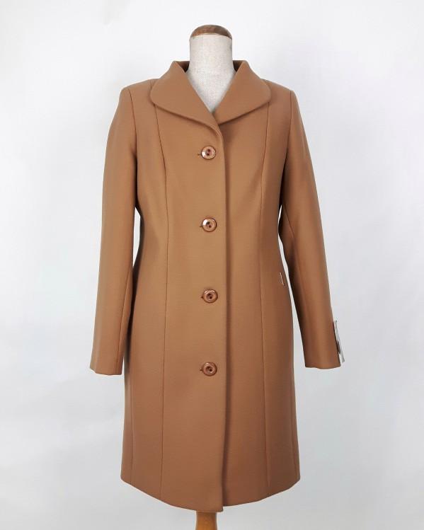 Zimowy płaszcz damski Eliza camel (beżowy) 1