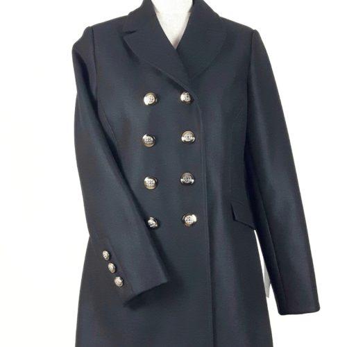 Damski militarny dwurzędowy płaszcz wiosenny Beata czarny 1