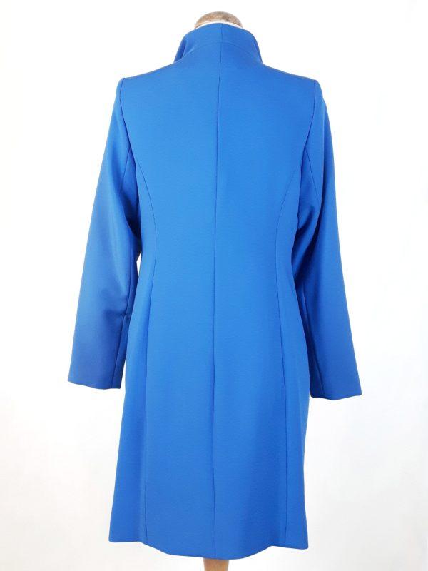 Elegancki damski płaszcz wiosenny z żorżety Żaneta kobaltowy (niebieski) 2