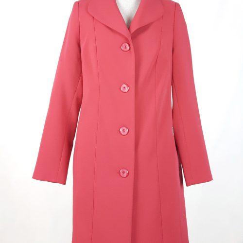Elegancki damski płaszcz wiosenny z żorżety Żaneta czerwony 1