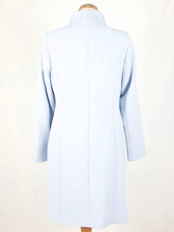 Elegancki damski płaszcz wiosenny z żorżety Żaneta błękit 2
