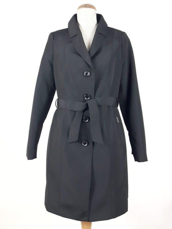 Płaszcz trencz wiosenny Julia czarny 1