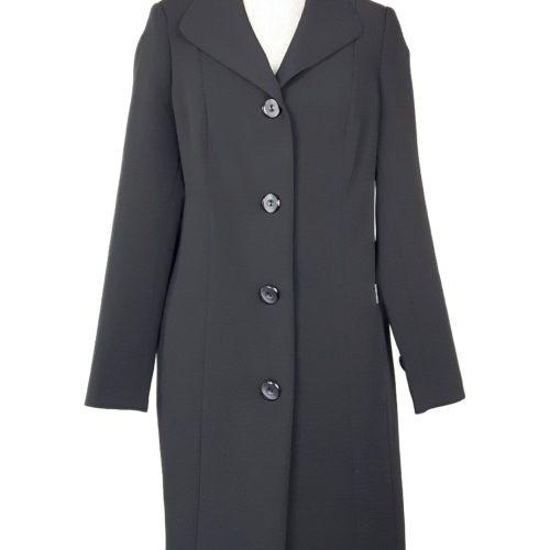 Elegancki damski płaszcz wiosenny z żorżety Żaneta czarny 1