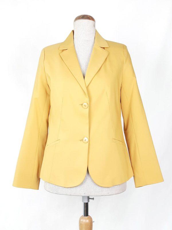 Elegancki żakiet marynarka damska Nadia żółty 1
