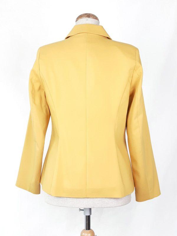 Elegancki żakiet marynarka damska Nadia żółty 2