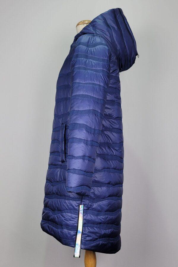 kurtka pikowana damska oversize z kapturem renata granatowa 2