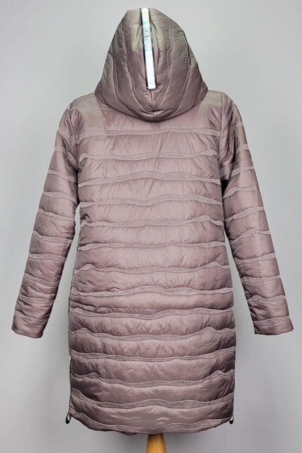 kurtka pikowana damska oversize z kapturem renata beżowa 3