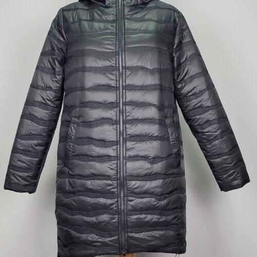 kurtka pikowana damska oversize z kapturem renata czarna 1