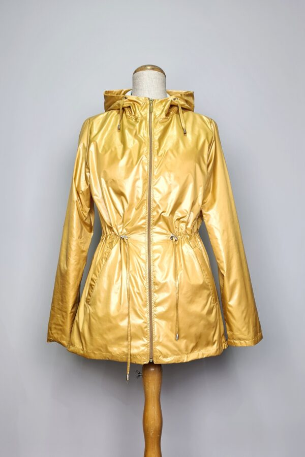 kurtka przeciwdeszczowa damska z kapturem iga zolta 1