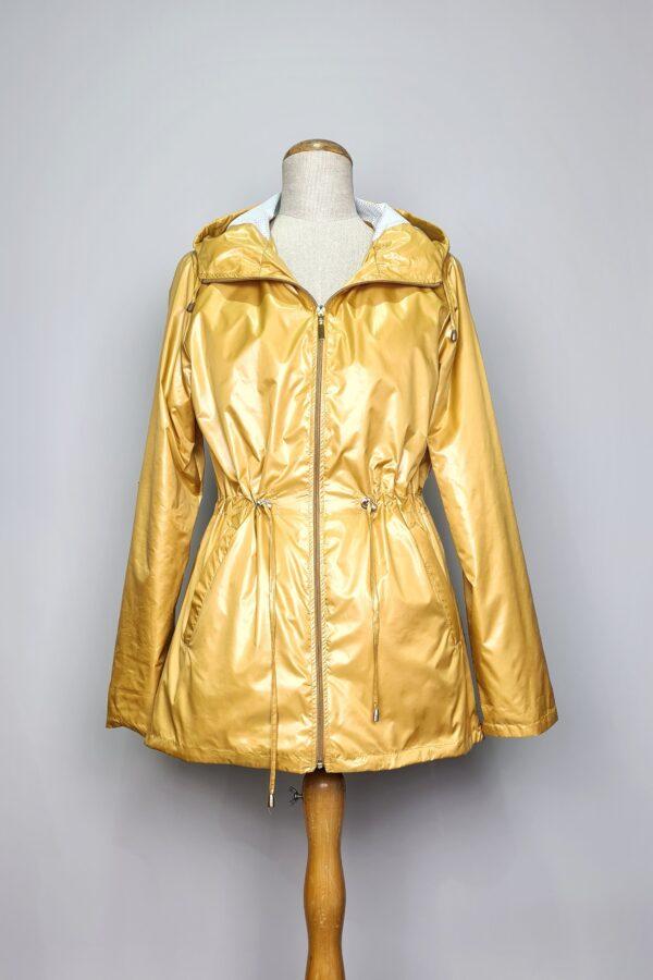 kurtka przeciwdeszczowa damska z kapturem iga zolta 2