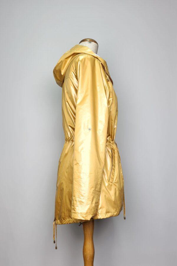 kurtka przeciwdeszczowa damska z kapturem iga zolta 5