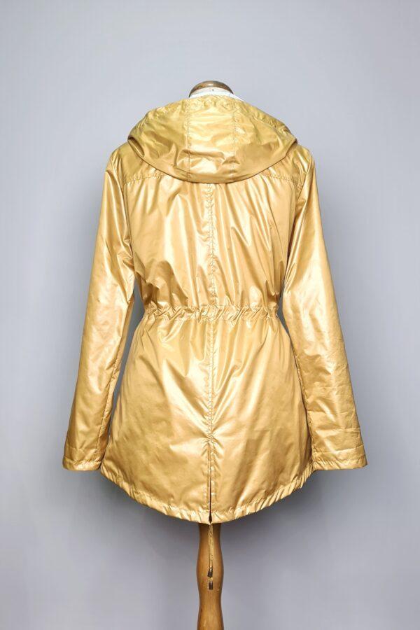 kurtka przeciwdeszczowa damska z kapturem iga zolta 6