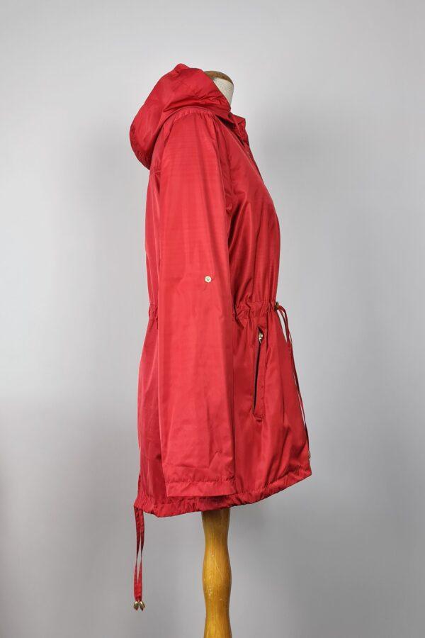 kurtka przeciwdeszczowa damska z kapturem iga czerwona 5