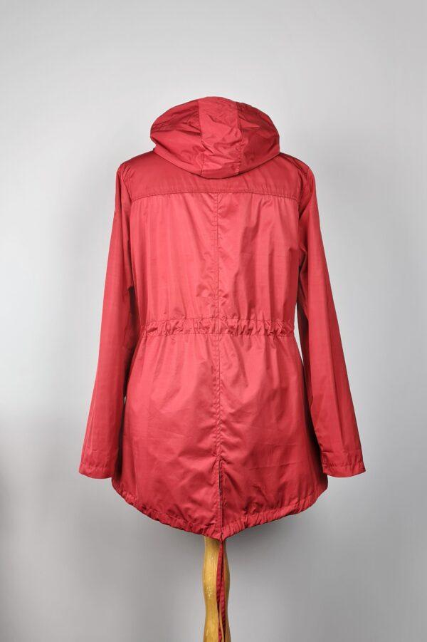 kurtka przeciwdeszczowa damska z kapturem iga czerwona 6
