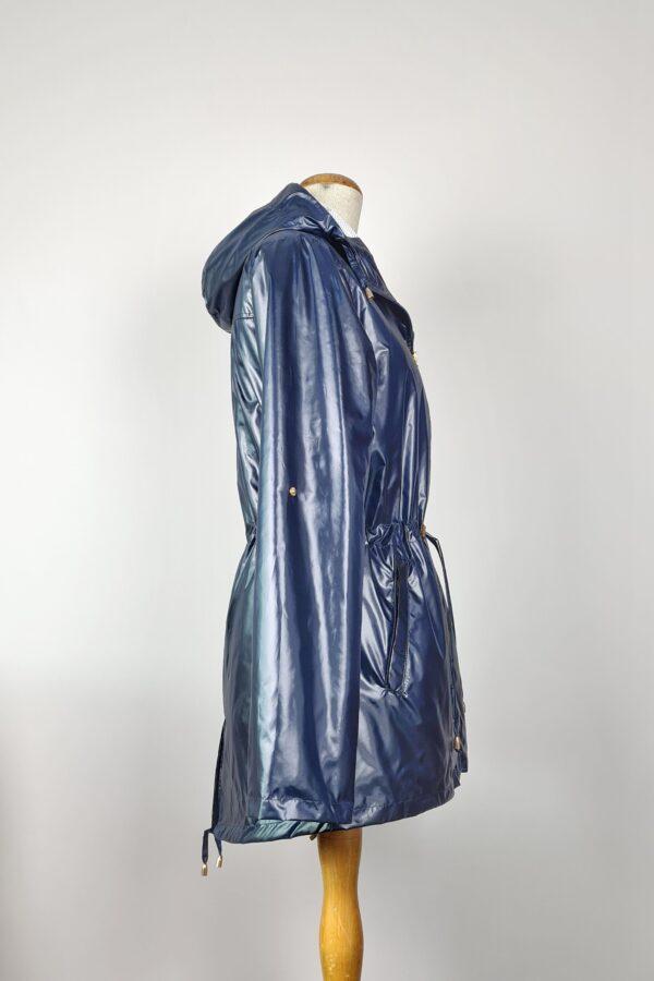 kurtka przeciwdeszczowa damska z kapturem iga ciemny granat 5